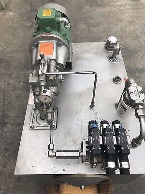 Used 5hp Hydraulic Power Unit 230460v Rexroth Pump