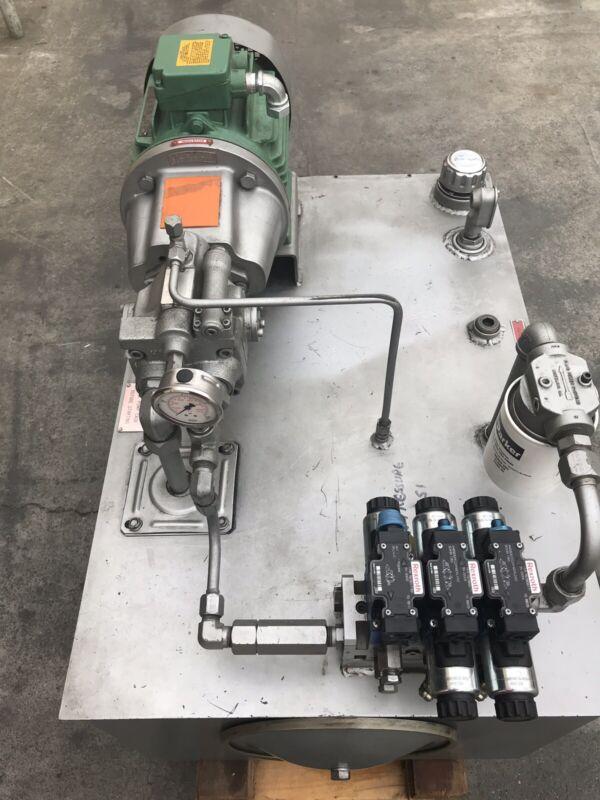 USED 5Hp Hydraulic Power Unit  230/460V Rexroth Pump