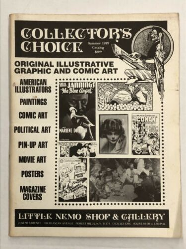 1979 COLLECTORS CHOICE Comic & Illustrators Vintage Original Art Catalog L@@K