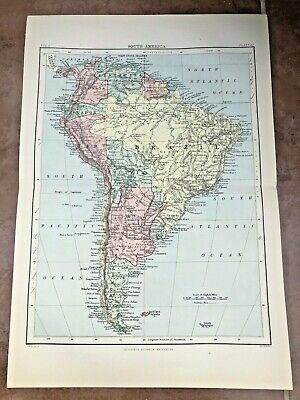 circa 1880s colour fold out map titled