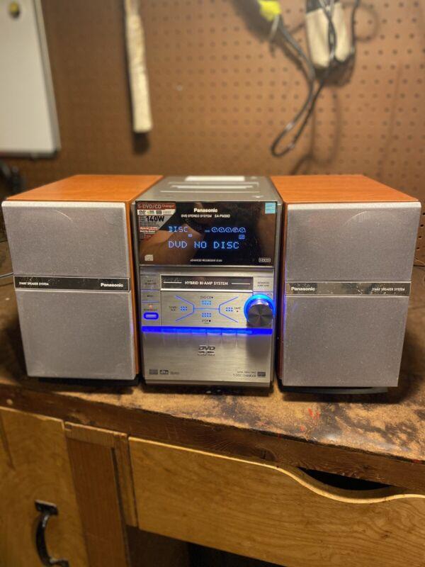 Panasonic Bookshelf 5 DVD CD FM AM Hybrid Stereo Player