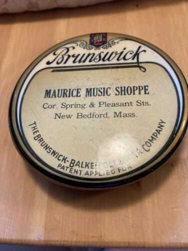 Brunswick Records Gold Label Phonograph Record Brush Duster Pad WOW