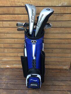 Left Handed Cougar Golf Club Set + Cleveland Bag and Maxfli Putter