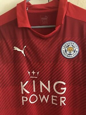 Puma Leicester City 2016 Away Ahmed Musa Soccer Jersey Large Football Nigeria image