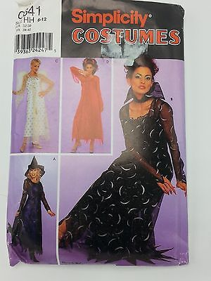 Misses Witch Devil and Angel Costume Pattern Size 6 to12 Simplicity 0641](Angel And Devil Costumes)