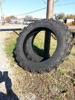 Two 8.3x248.3-24 Cub Farmall Six Ply Tractor Tires With Tubes