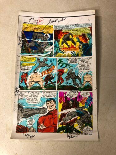 AMAZING ADVENTURES #13 ART color guide X-MEN 1972 BEAST STUNNING BATTLE BLOB
