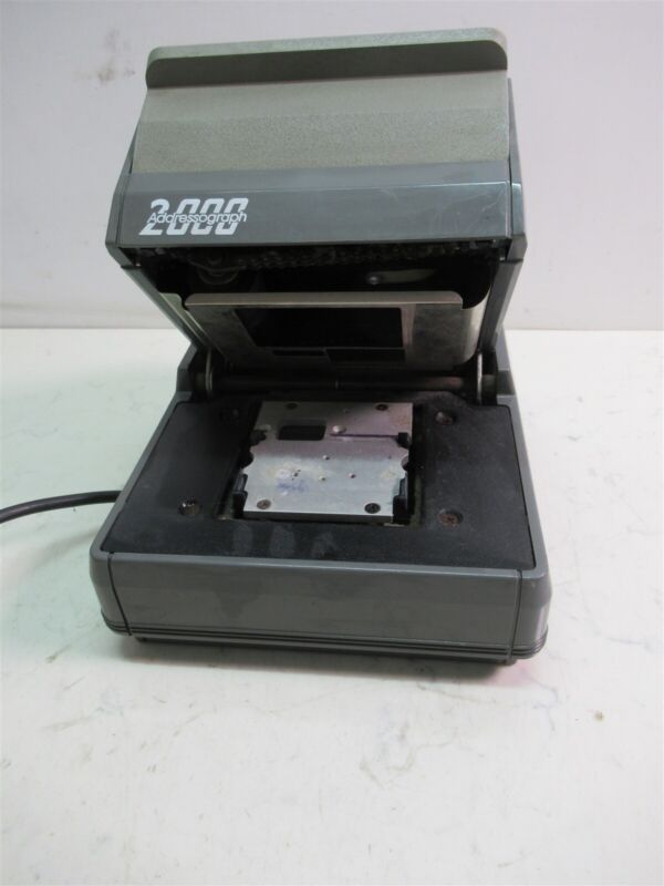 NewBold Addressograph 2000 Medical Electric Card Imprinter Embosser Machine