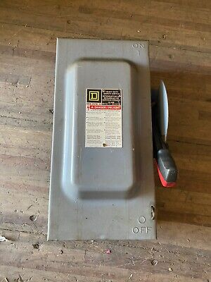 Square D H362 60amp 600v Safety Switch Disconnect Type 1 Enclosure Warranty