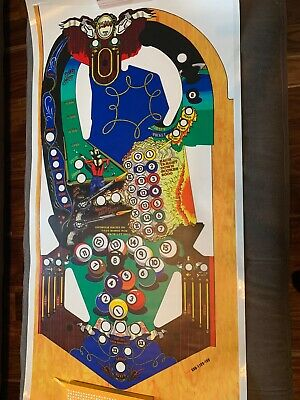 Bally eight ball deluxe pinball playfield overlay