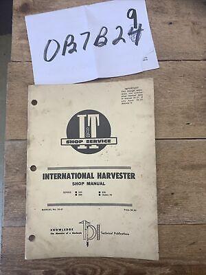 International 544 666 656 Hydro 70 Tractor It Shop Manual Ih-41