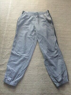 Vintage Adidas Grey And Black Joggers Size UK Large
