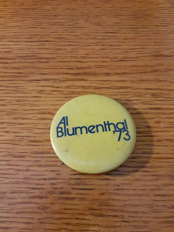 Mayor New York City Local Al Blumenthal Political Campaign Pin Back 1973 Button