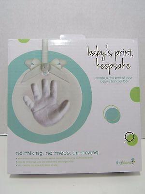 Tiny Ideas Baby's Print Keepsake Unopened Box Create Hand Foot Ornament Clay