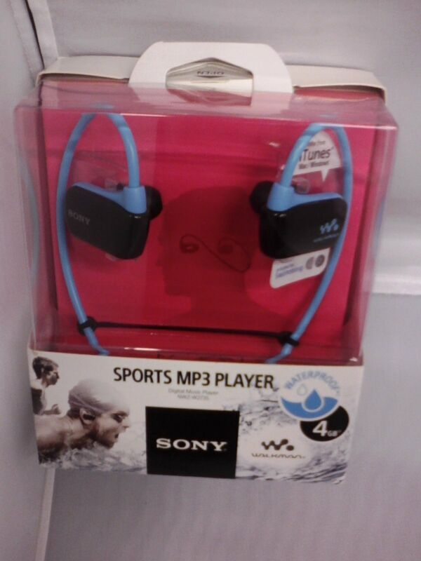 Sony NWZW273SBLUE 4GB* Wearable Sports MP3 Player