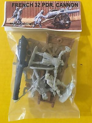 BARZSO FRENCH 32 PDR. CANNON SET UNOPENED CANNON AND CREW; MIP