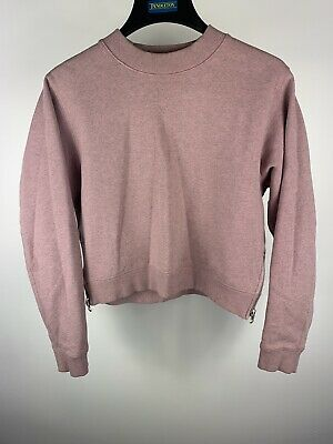 Designer Acne Studios Size S Pink Bird Fleece Style Perfect Women's Jumper