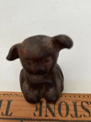 Miniature Cast Iron Puppy Dog with Floppy Ears Reproduction Made in Antique Mold
