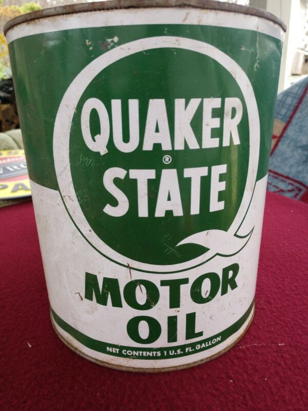 Vintage Quaker State Motor Oil 1 Gallon Can