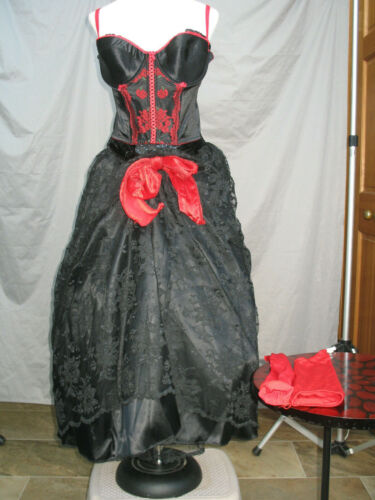 Victorian Saloon Dress Western Dance Hall Women