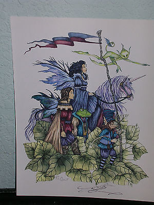 Amy Brown - The Quest - SIGNED - OUT OF PRINT - VERY RARE