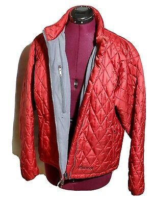 Marmot Women's Jacket Large Red  Quilted Ski Snow Rain Coat Backpacking Camping