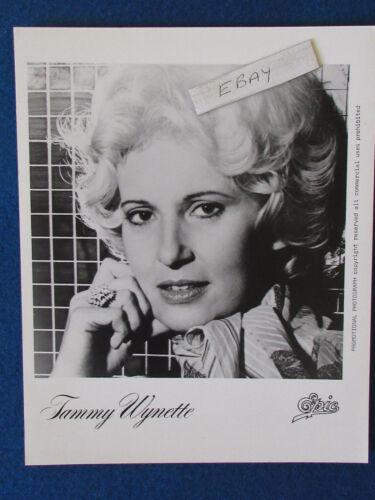 """Original Press Promo Photo - 10""""x8"""" - Tammy Wynette - 1980"""