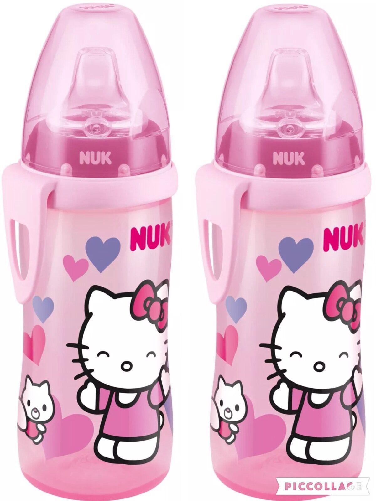 NUK Hello Kitty Active Cup 300 ml, ab 12 Monate, 2er Set neu &ovp