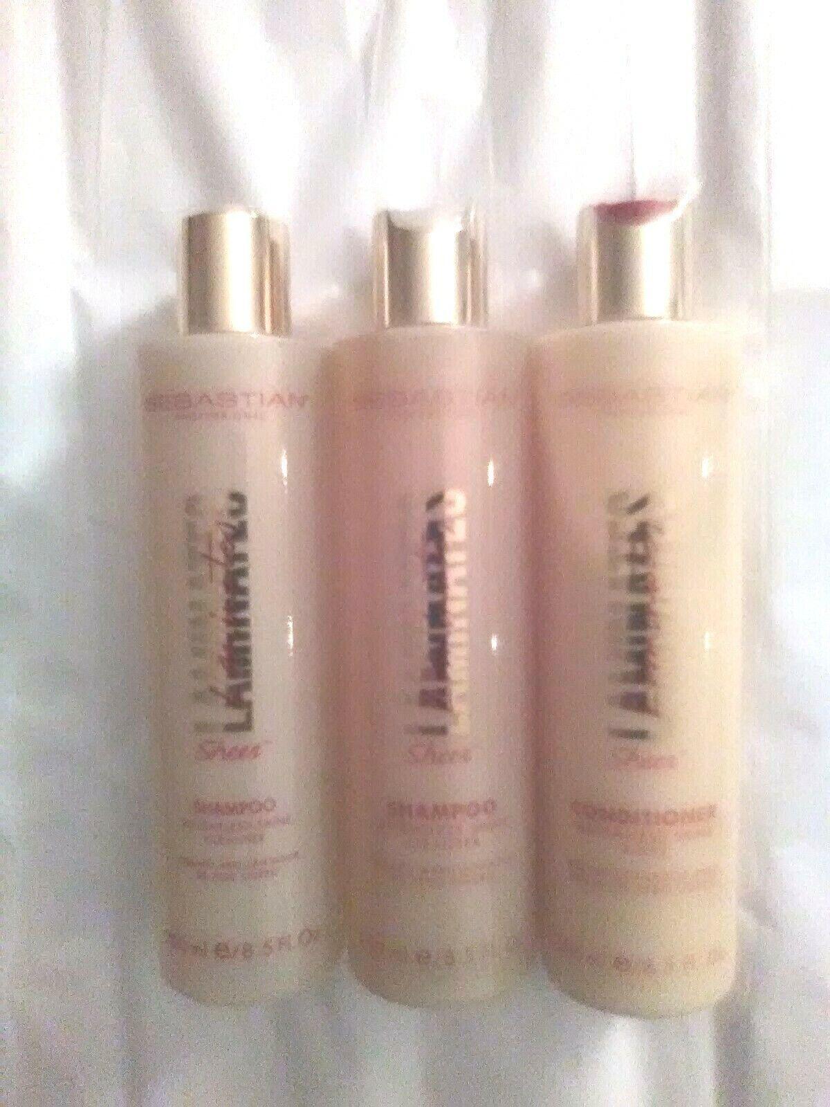 Sebastian Laminates Sheer 2 Shampoo Weightless Shine Cleaner 1 Conditioner Rinse - $75.00