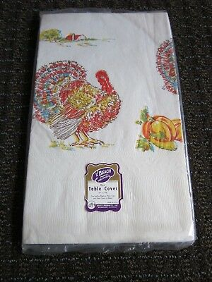 Vintage Thanksgiving Paper Table Cover Beach Tableware Tablecloth Turkey 54 x 96](Thanksgiving Paper Tablecloths)