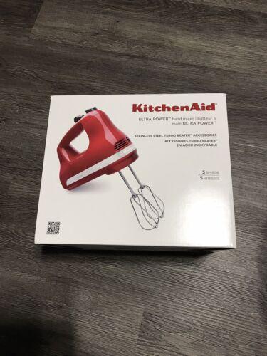 KITCHENAID 5-SPEED HAND MIXER - RED - NEW IN BOX