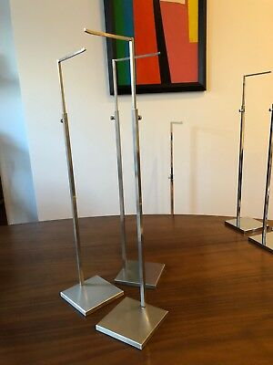 Brushed Stainless Handbag Counter Display Stands -set Of 3