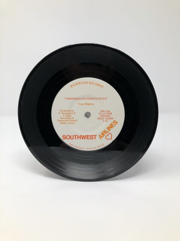 RARE Vintage Southwest Airlines Christmas Record SWA