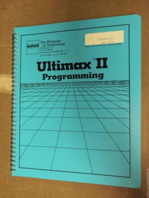 Hurco Ultimax II Programming Operation Manual 704-0001-375 7040001375