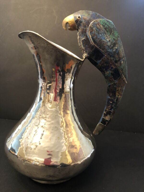 Emilio Castillo Mexican Silver Plate Water Pitcher-Imperfect