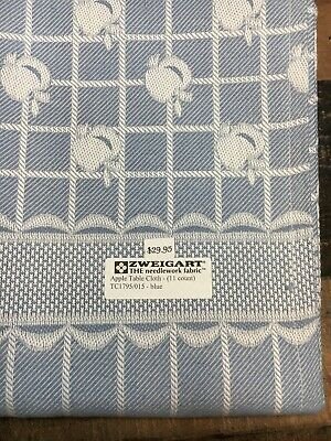 Zweigart Apple Table Cloth Blue 11 count Cross Stitch 5' for sale  Shipping to India