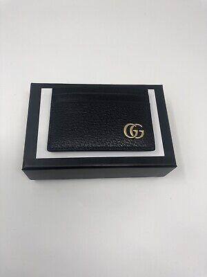 Gucci Black GG Marmont Money Clip Card Holder Brand New