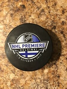 NHL premiere puck - Helsinki October 2010