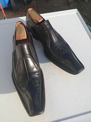 Mens JO GHOST 100% Leather, Black Slip-on Loafer Shoes UK 9 (43).