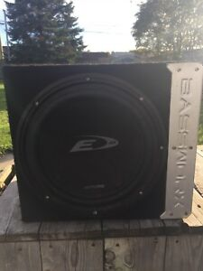 Alpine Sub woofer and pioneer amp with box