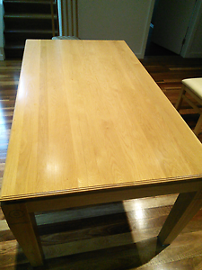 Solid Oak Dining Table and 6 chairs. Greenwich Lane Cove Area Preview