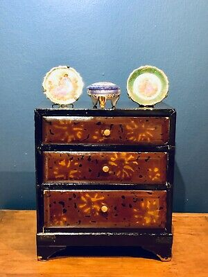 Miniature Chinese Laquered Chest of Drawers