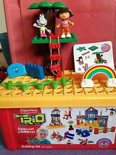 Fisher Price Building set - Trio with storage box and Dora pieces Adamstown Newcastle Area Preview
