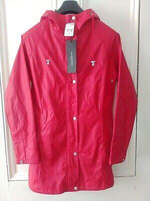 Ilse Jacobsen BNWT Light Raincoat Rain87 in  Deep Red Size 38 UK Size 12