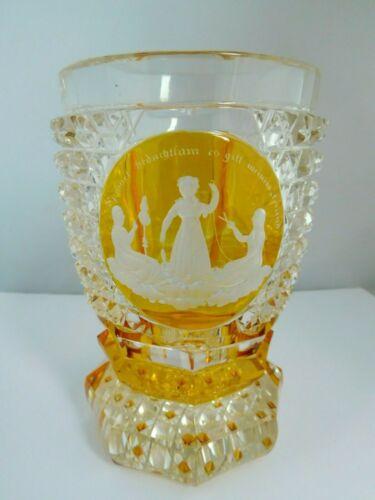 STUNNING BOHEMIAN GLASS STYLE VASE / GOBLET