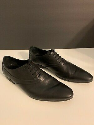 Zara Men's Dress Shoes Black Lace Up Size 44 EU