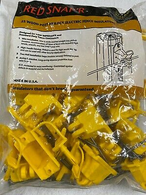 Zareba Red Snapr 25 Wood Post Pinlock Electric Fence Insulators