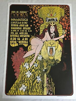Dantes Inferno Doors Concert Tour Poster Victoria Arena Bob Masse