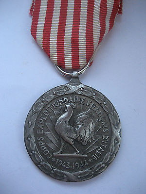 FOREIGN LEGION/FREE FR FORCES CAMPAIGN MEDAL ITALY 1943-1944