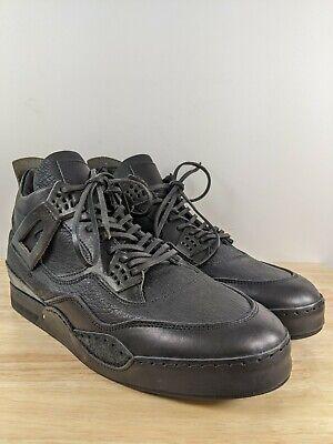 Hender Scheme Jordan 4 Mip-10 Black Leather Sneakers Sz 6 Hender 10.5-11 US